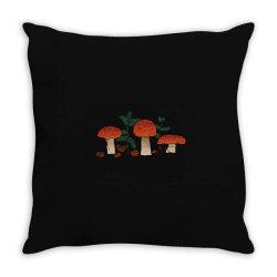 Mushrooms Throw Pillow | Artistshot