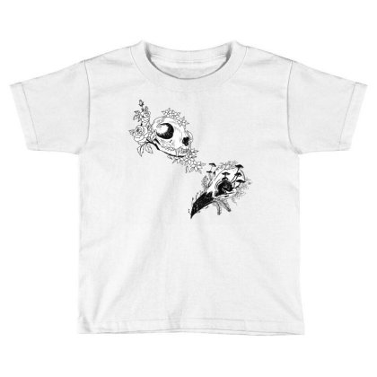Fauna And Flora - B&w Toddler T-shirt Designed By Snuggly The Raven