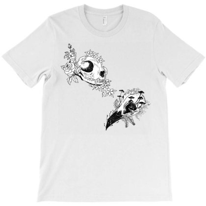 Fauna And Flora - B&w T-shirt Designed By Snuggly The Raven