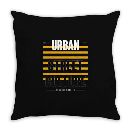 Urban Street Culture Throw Pillow Designed By Nurart