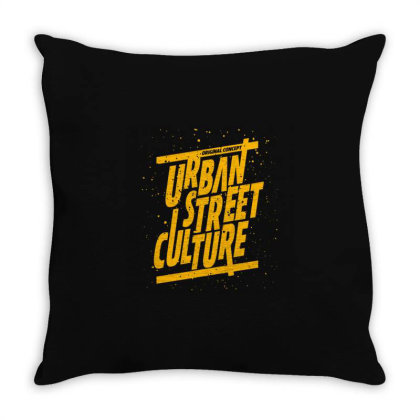 Urban Street Culture Trend Throw Pillow Designed By Nurart