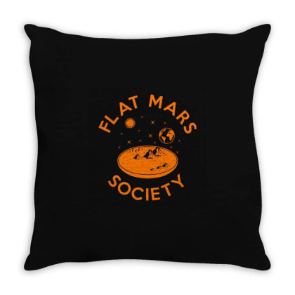 Flat Mars Society Throw Pillow Designed By Victor_33