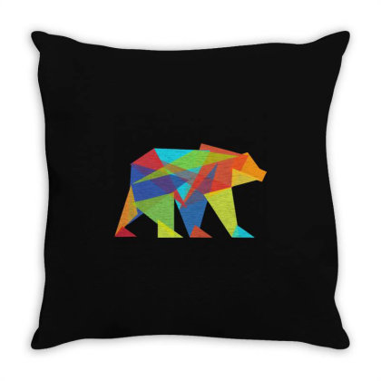 Fractal Geometric Bear Throw Pillow Designed By Victor_33