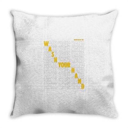 Wash Your Hand Throw Pillow Designed By Nurart