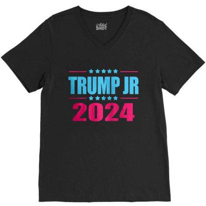 Trump Jr 2024 V-neck Tee Designed By Schulz-12