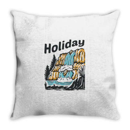 Waterfall Throw Pillow Designed By Nurart