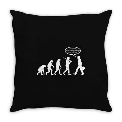 Funny Evolution Fail Throw Pillow Designed By Victor_33