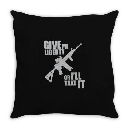 Give Me Liberty Throw Pillow Designed By Victor_33