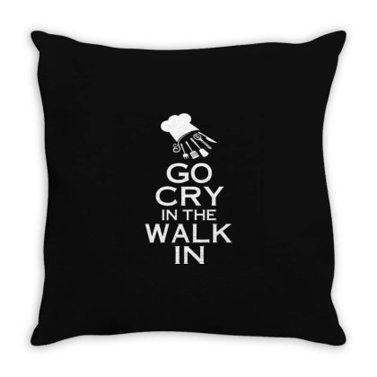 Go Cry In The Walk In Throw Pillow Designed By Victor_33