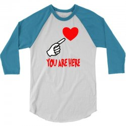 you are here 3/4 Sleeve Shirt | Artistshot