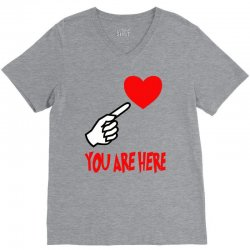 you are here V-Neck Tee | Artistshot