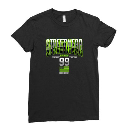 Streetwear Ladies Fitted T-shirt Designed By Disgus_thing