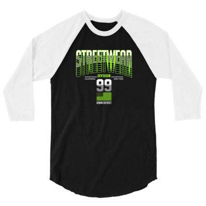 Streetwear 3/4 Sleeve Shirt Designed By Disgus_thing