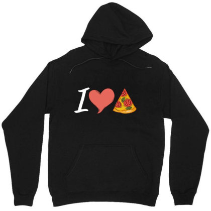 I Love Pizza Tee For Pizza Lovers Unisex Hoodie Designed By Victor_33