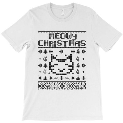 Meowy Christmas Cats T-shirt Designed By Allstar