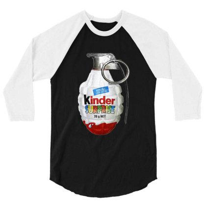 Delicious Schokobons Kinder Candy 3/4 Sleeve Shirt Designed By Elga Vaniaputri