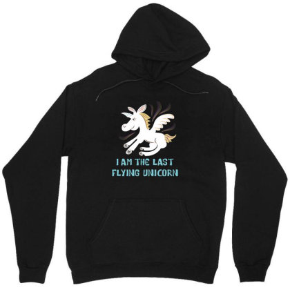 I Am The Last Flying Unicorn Unisex Hoodie Designed By Victor_33