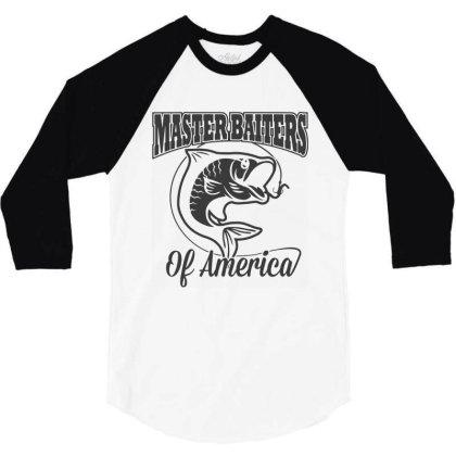 Master Baiter Fishing Club 3/4 Sleeve Shirt Designed By Allstar