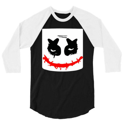 Funny Halloween Horror Face  Costume 3/4 Sleeve Shirt Designed By Ooredoo
