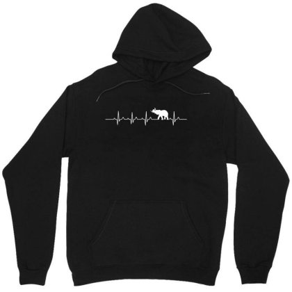 Heartbeat Elephant T Shirt Unisex Hoodie Designed By Gnuh79