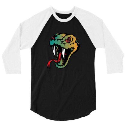 Snake 3/4 Sleeve Shirt Designed By Ahmadjufriyanto
