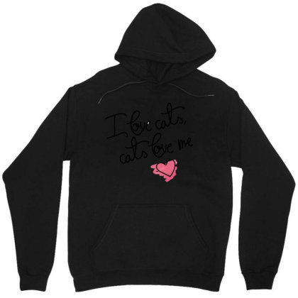 I Love Cats Unisex Hoodie Designed By Victor_33