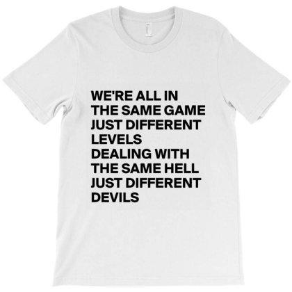Same Game Different Levels Devil T-shirt Designed By Elga Vaniaputri