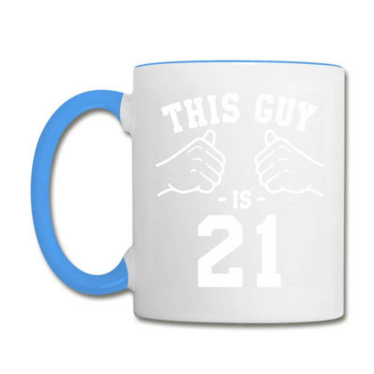 21st Birthday Design Birthday Present For Him Bday Gift Ideas For Men Coffee Mug Designed By Artist_amateur