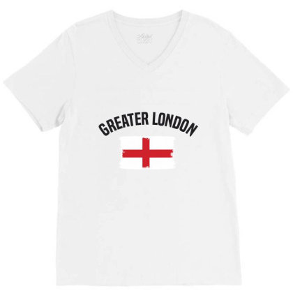 Greater London V-neck Tee Designed By Chris Ceconello