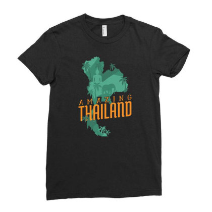 Amazing Thailand Ladies Fitted T-shirt Designed By Igaart