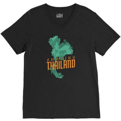 Amazing Thailand V-neck Tee Designed By Igaart