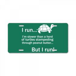I Run License Plate | Artistshot