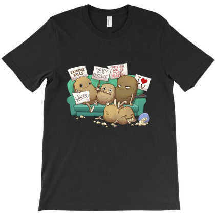 Couch Potato Club T-shirt Designed By Martinezart
