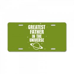 Greatest Father In The Universe License Plate | Artistshot