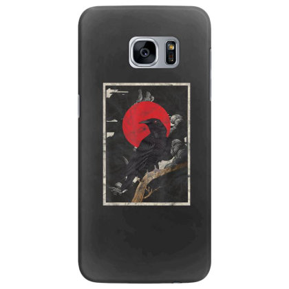 Red Moon Raven Graphic Black Crow Samsung Galaxy S7 Edge Case Designed By Martinezart
