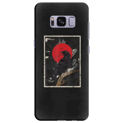 Red Moon Raven Graphic Black Crow Samsung Galaxy S8 Plus Case Designed By Martinezart