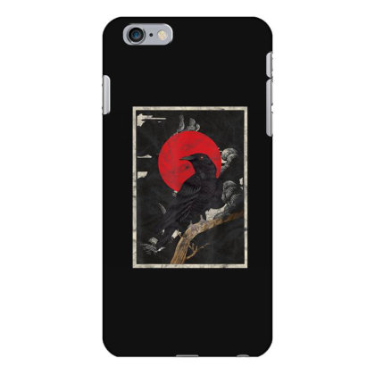 Red Moon Raven Graphic Black Crow Iphone 6 Plus/6s Plus Case Designed By Martinezart