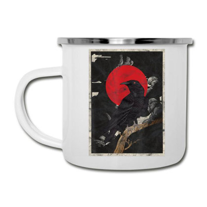 Red Moon Raven Graphic Black Crow Camper Cup Designed By Martinezart