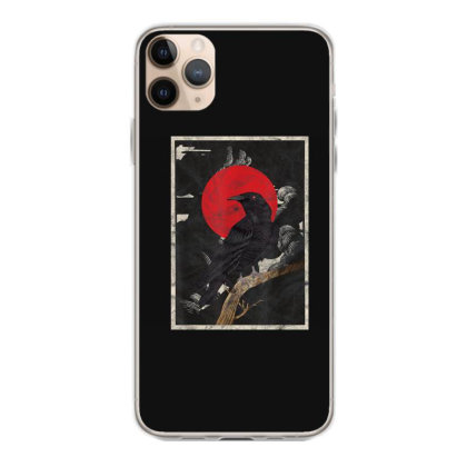Red Moon Raven Graphic Black Crow Iphone 11 Pro Max Case Designed By Martinezart