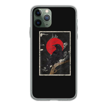 Red Moon Raven Graphic Black Crow Iphone 11 Pro Case Designed By Martinezart
