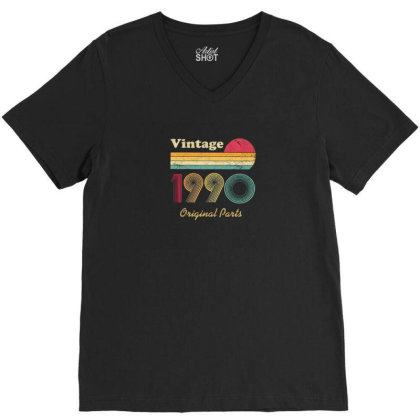 1990 V-neck Tee Designed By Disgus_thing