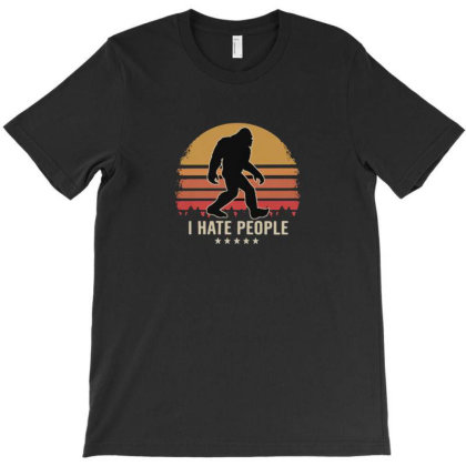 I Hate People T-shirt Designed By Disgus_thing