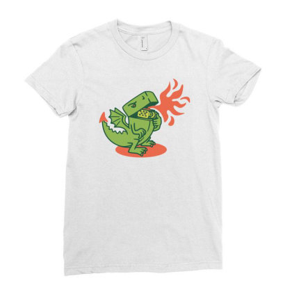 Lighter Ladies Fitted T-shirt Designed By Toldo