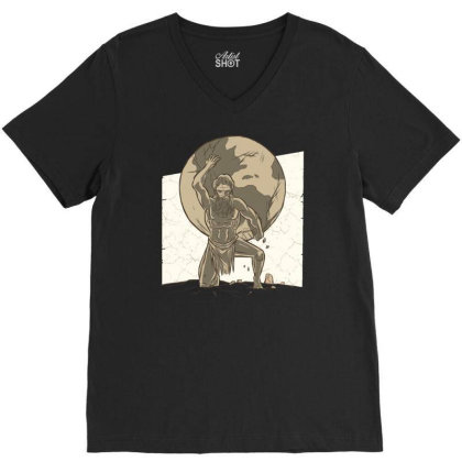 Atlas V-neck Tee Designed By Igaart