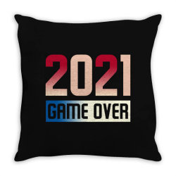 2021 Game Over Throw Pillow Designed By Sengul