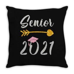 Senior 2021 Glitter Throw Pillow Designed By Sengul