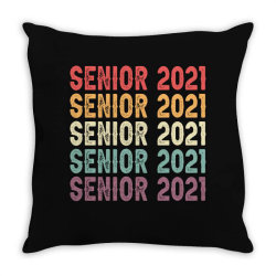 Senior 2021 Vintage Throw Pillow Designed By Sengul