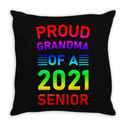 Proud Grandma Of A 2021 Senior Throw Pillow Designed By Sengul