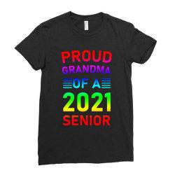 Proud Grandma Of A 2021 Senior Ladies Fitted T-shirt Designed By Sengul