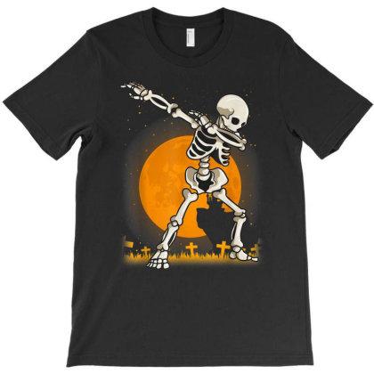 Halloween Shirts For Boys Kids Dabbing Skeleton Costume Dab T-shirt Designed By Conco335@gmail.com